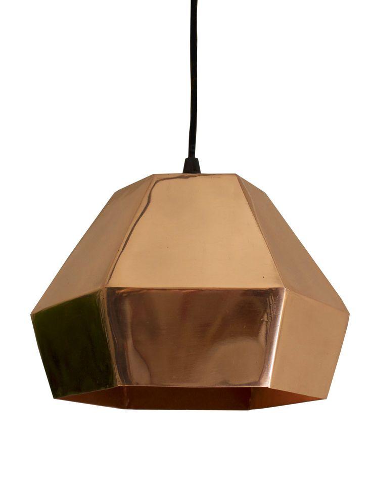 Modern copper pendant light, $179.90 on www.valodesign.com.au