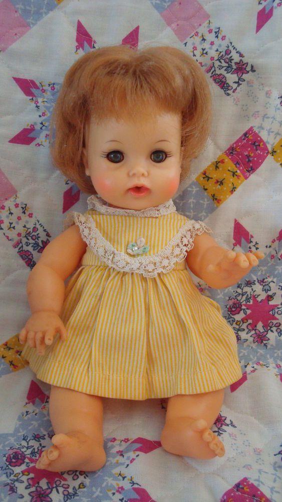 Randi reader doll yellow red dress