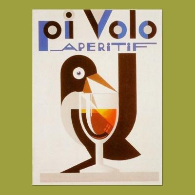 Vintage Liquor Ad, Pi Volo Aperitif-Rare Poster by yesterdaysgirl