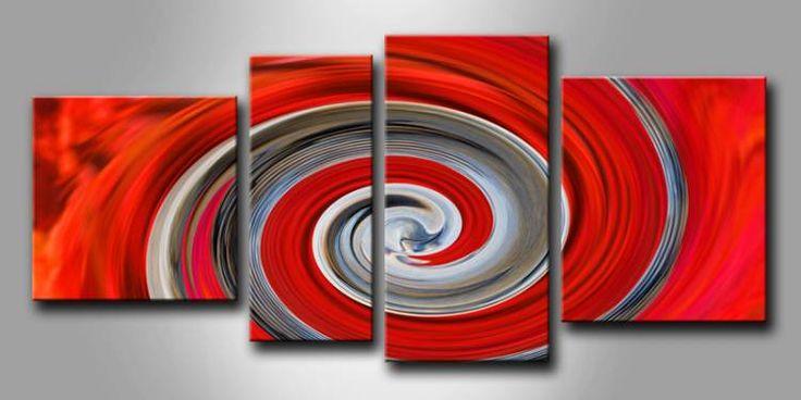 ME_041 / Cuadro Abstracto espiral roja