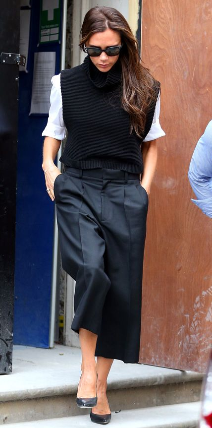 How to Layer Without Looking Bulky - Victoria Beckham #InStyle