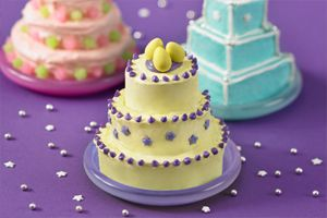 Magnificent Mini-Tiered Cakes- These delightful little desserts can be themed to suit any party. Showcase your creativity and decorate them with candies, sprinkles or chocolates to make unique works of art.