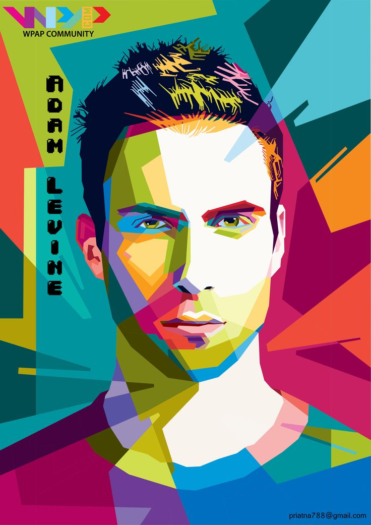 Adam Levine on wpap.more info and order priatna788@gmail.com pinbb 54FD2723  #wpap #pop #art #illustration #vector #Adam #Levine