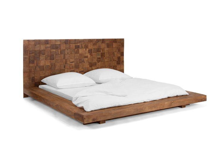 affordable lit adrika x en palissandre cir teck with lit 180x200 but. Black Bedroom Furniture Sets. Home Design Ideas