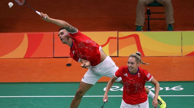 Chris and Gabby Adcock are playing at their first Olympic Games as a pairing
