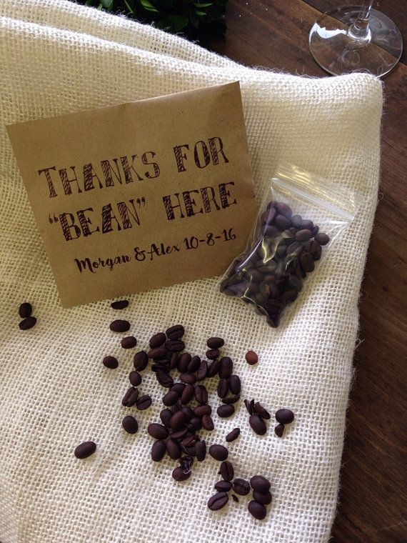 Wedding Coffee Favor Bags Thanks for Bean Here by DetailsonDemand