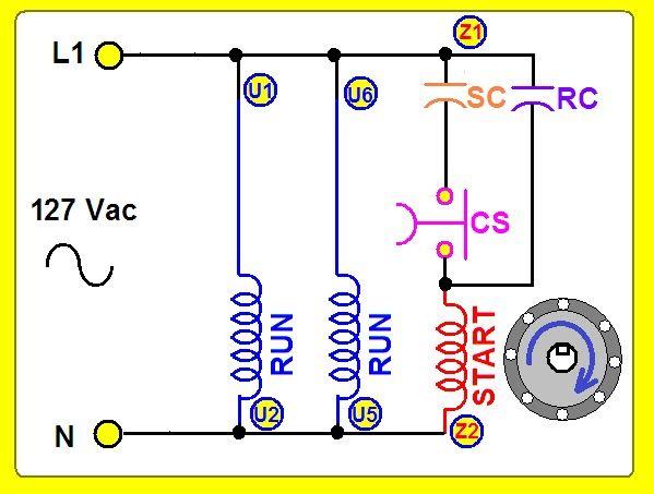 Coparoman Motor Monofásico Con 2 Capacitores Motor Eléctrico Circuito Electrónico Esquemas Electricos