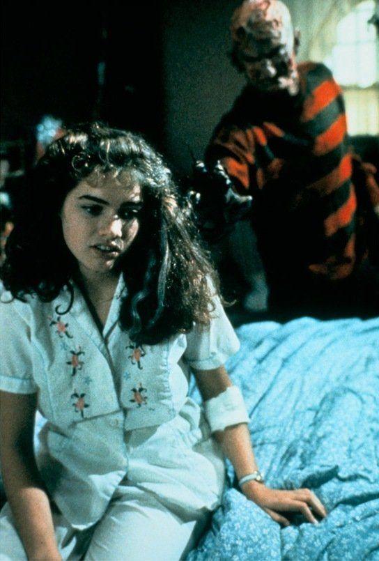Still of Robert Englund and Heather Langenkamp in A Nightmare on Elm Street