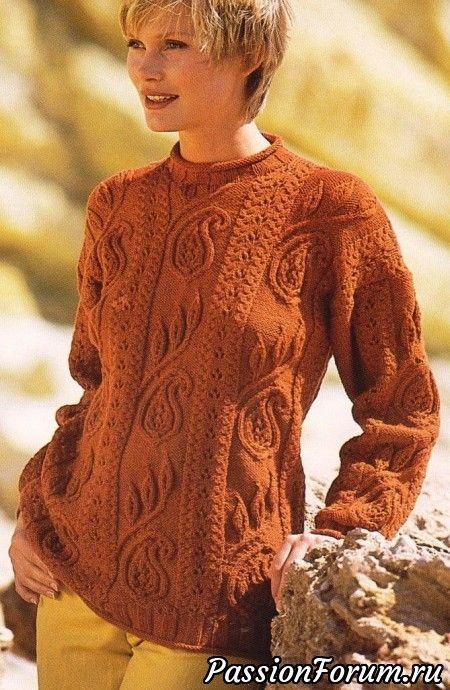Рыжий пуловер - запись пользователя Мира (Мира) в сообществе Вязание спицами в категории Вязание для женщин спицами. Схемы вязания спицами