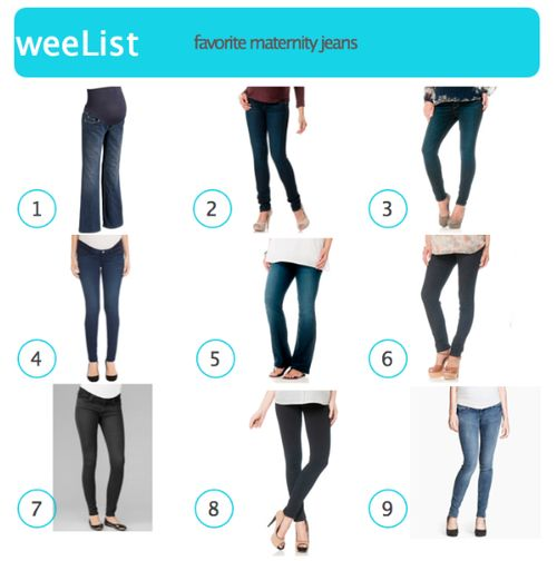 Here are nine brands that have cute, comfy maternity styles that cover all price ranges, recommended by our weeSpring community as the best maternity jeans.