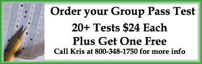 Order your group PASS tests today: 20+ tests are $24 each, plus get one free.