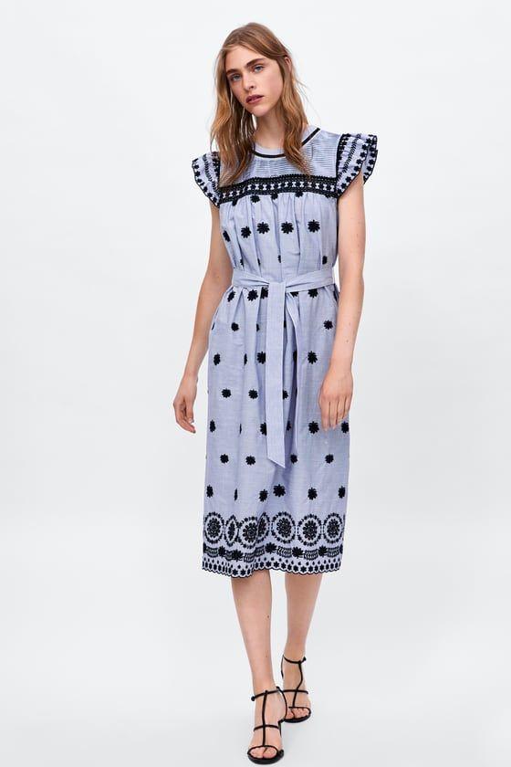 Zara mujer vestidos rayas