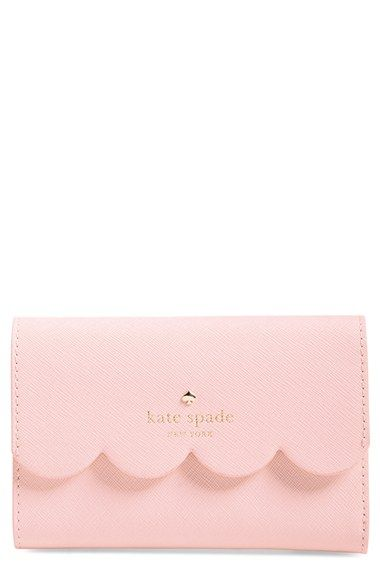 Free shipping and returns on kate spade new york 'lily avenue - kieran' wallet at Nordstrom.com. A scalloped flap lends a playful, seasonal touch to a svelte wallet cast in lush crosshatched leather.