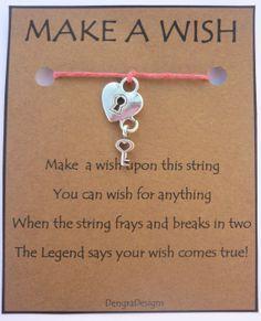 Wish Bracelets Make A Wish And Poem On Pinterest