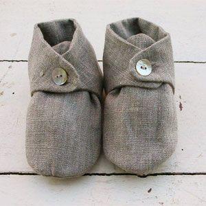 Linen baby shoes | Mjölk: Scandinavian & Japanese Design