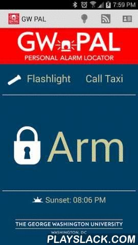 GW PAL  Android App - playslack.com , GW PAL, or Personal Alarm Locator, is a mobile safety application developed for the George Washington University community. The application allows anyone on the Foggy Bottom and Mount Vernon campuses to notify the George Washington Police Department (GWPD) of an emergency through their smartphone. When on campus and sending an alert, your GPS location and phone number are sent directly to GWPD. Users will also be able to send in crime tips, along with…