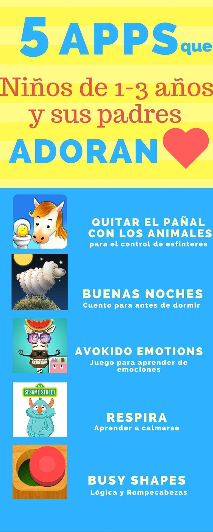 5 mejores apps para ninos de 1, 2 y 3 años adoran  Las 5 son super buenas! todas ganadoras de premios. y las 5 super educativas  #mejoresapps #appseducativas #appsparaniños #appeducativas