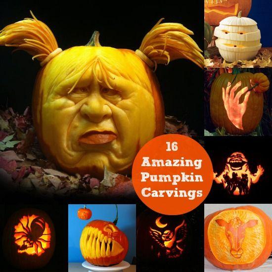 16 Amazing Pumpkin Carvings - diycandy.com