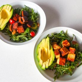 Rocket, Avocado And Walnut Salad - Two Ways [vegeTARAian]