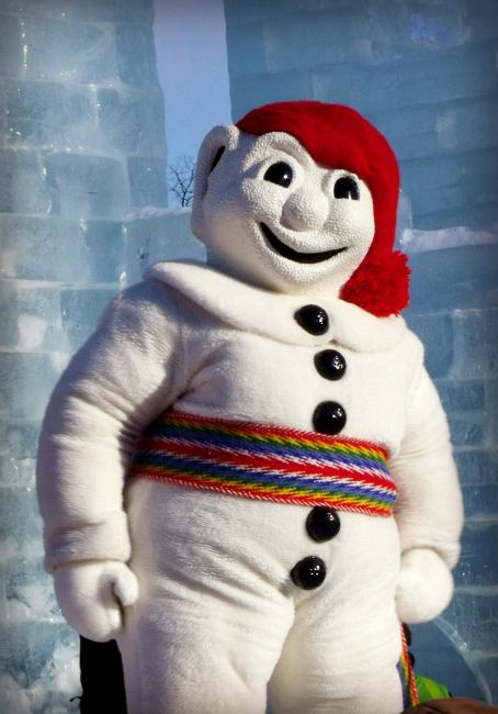 Bonhomme -- ambassador to the Quebec City Winter Carnival