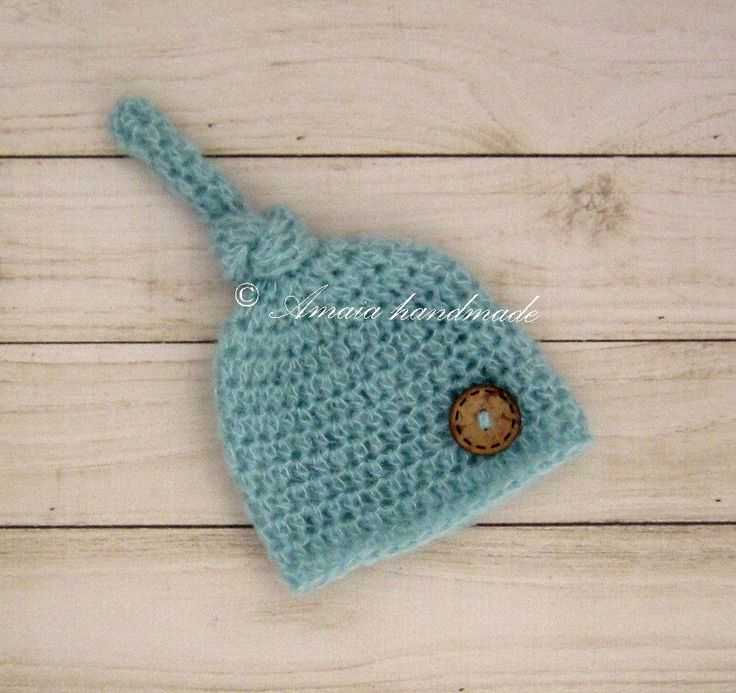 Newborn elf hat - crochet newborn hat with button - multiple colors - made to order - beautiful newborn photo prop by Amaiahandmade on Etsy