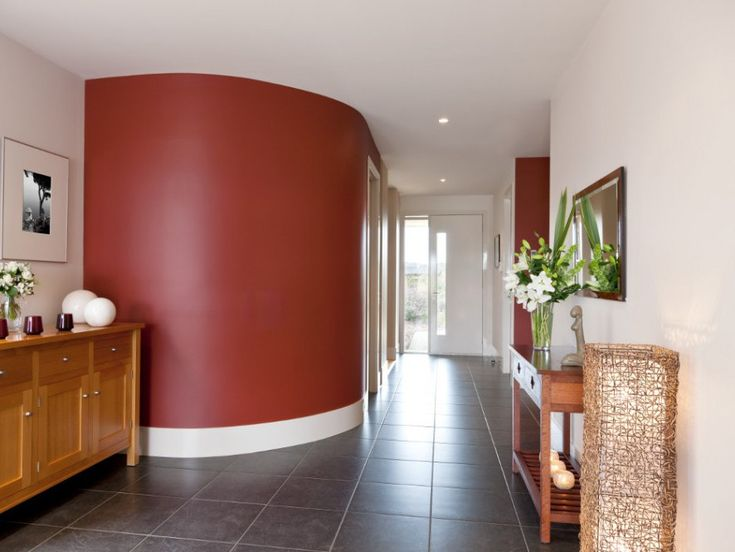 Image result for red feature wall with black floor