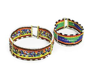 Get a look that screams Africa with this Maasai beaded bracelet for children. Each bracelet is totally hand made, and one of a kind for a look that is all your own! Fiercely exotic, yet extraordinarily sophisticated. Made in Kenya.