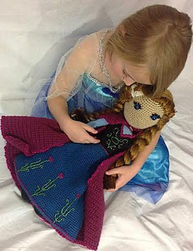 Disney Frozen Anna Doll Crochet Pattern  by SarahBeth - pattern $4.99