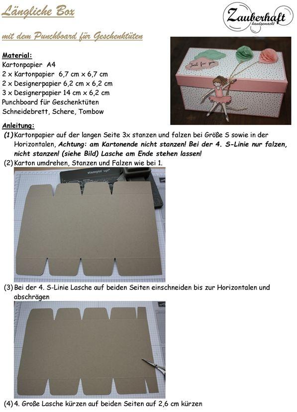 Zauberhaft-handgemacht: Längliche Box mit bebilderter Anleitung