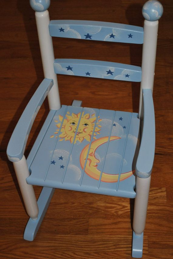 Kids Rocking Chair Childrens Rocking Chair Rocker by onmyown14