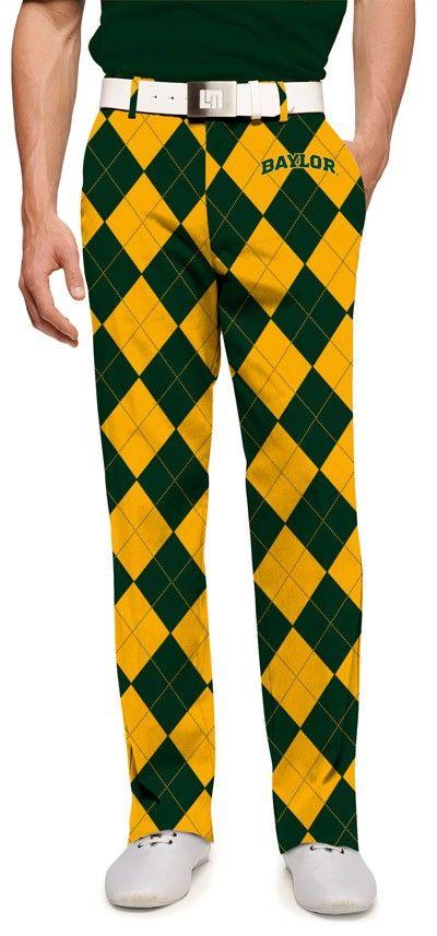 Baylor University men's golf pants