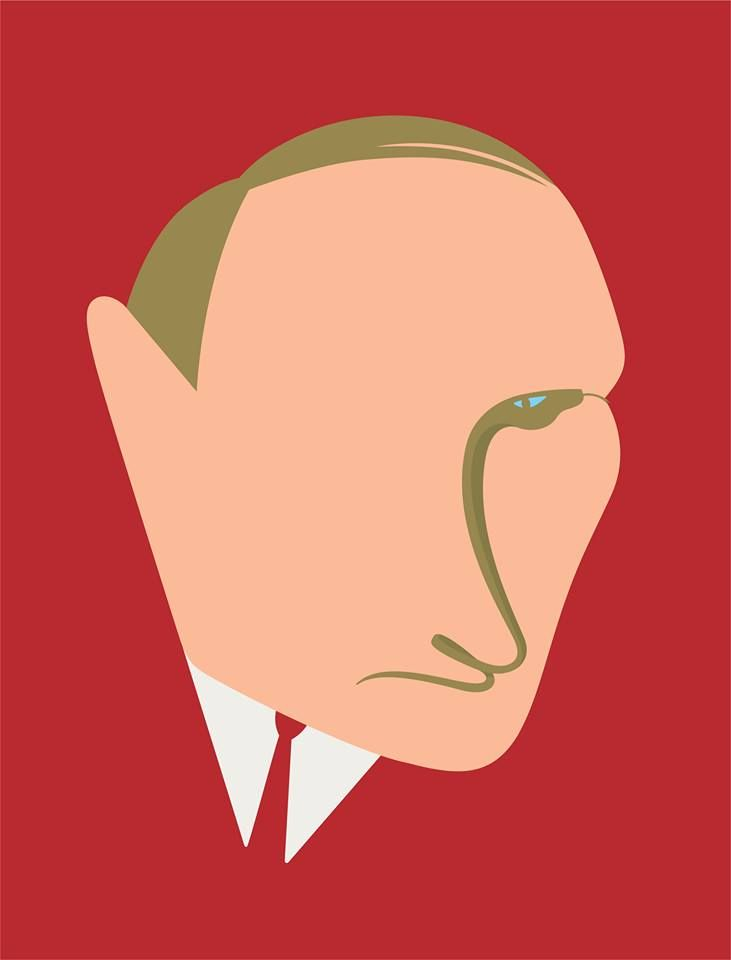 Putin,Cover for Internazionale by #NomaBar