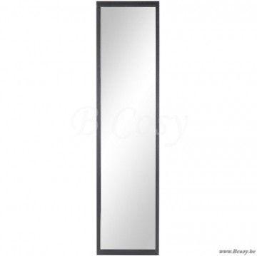 J-Line Rechthoekige spiegel in zwart hout 170H