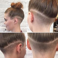 shaved sideburn undercut - Google Search