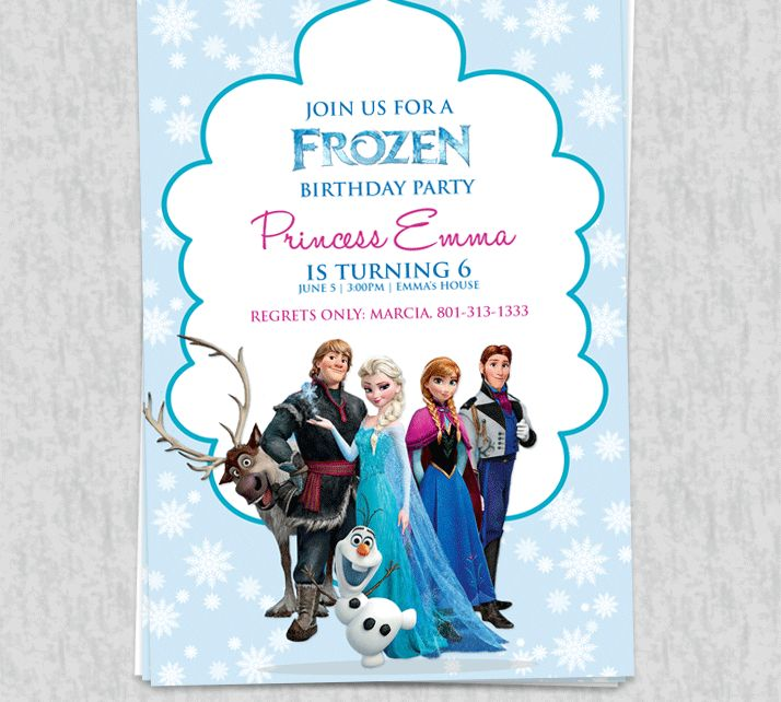 Frozen Party Ideas - These free printable invitations are awesome. You can download them, edit the wordings with your details and print.