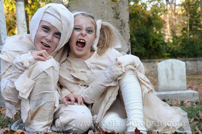 Мумия Хеллоуин костюм шитье учебник от Polkadot кафедры