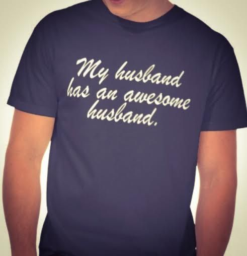 MY HUSBAND HAS AN AWESOME HUSBAND. GAY MARRIAGE. GAY HUSBAND ANNIVERSARY. GAY WEDDING GIFT. HE'S MINE, I'M HIS. HIS AND HIS. JUST MARRIED. PARTNERS. LOVERS. LEGALIZE GAY MARRIAGE. GROOMS GIFT. MR AND MR. www.TheButchQueen.com http://www.zazzle.com/my_husband_has_an_awesome_husband_tshirts-235255896340687084?rf=238765121349775167