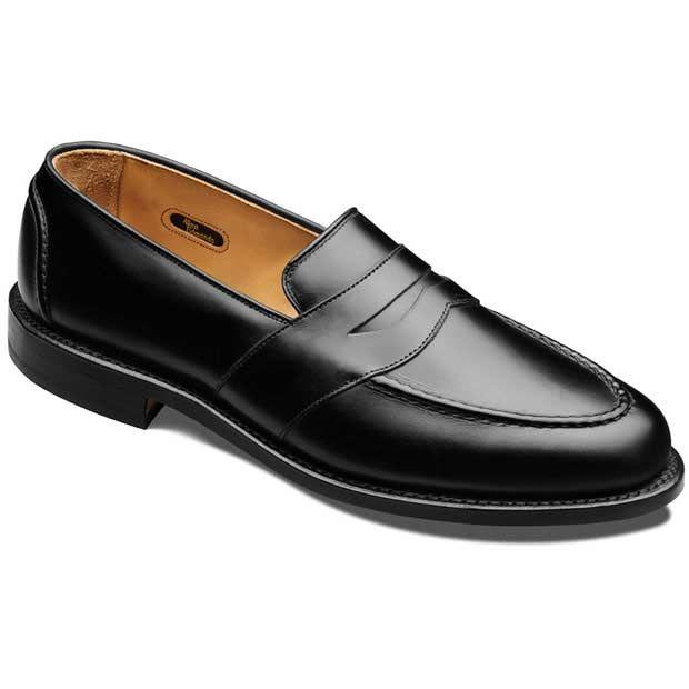 Allen Edmonds Randolph Penny Loafers 4809 Black Custom Calf. $293
