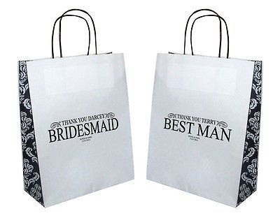 Personalised best man #bridesmaid #usher flower girl etc wedding gift bag #22x28c,  View more on the LINK: http://www.zeppy.io/product/gb/2/252333938817/