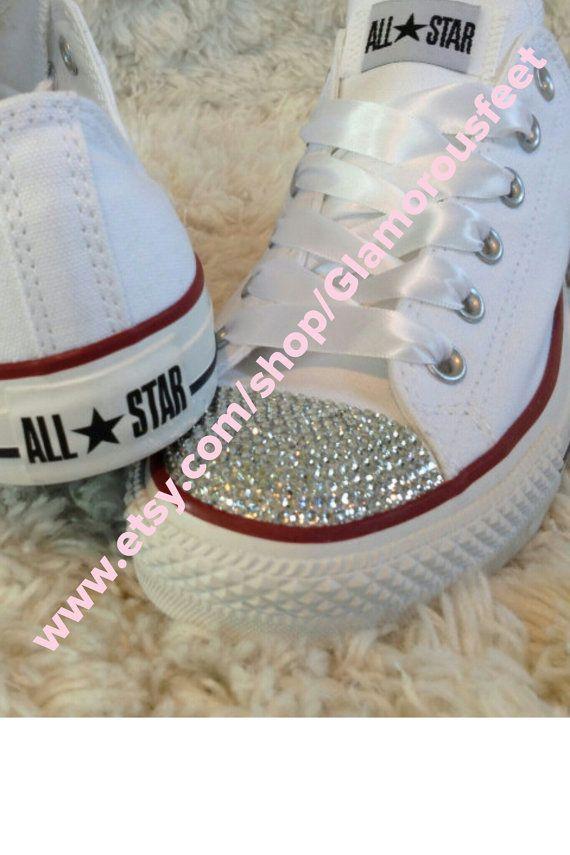 Womens Bling Converse SALE SALE van ShoesOfArt op Etsy