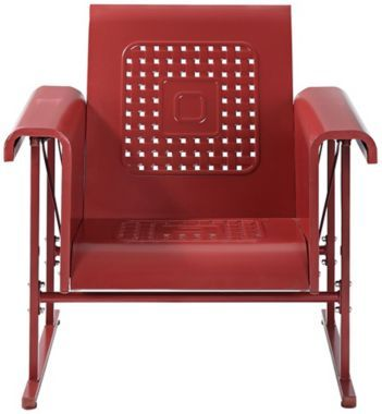 Veranda Coral Red 32-Inch-W Outdoor Single Chair Glider