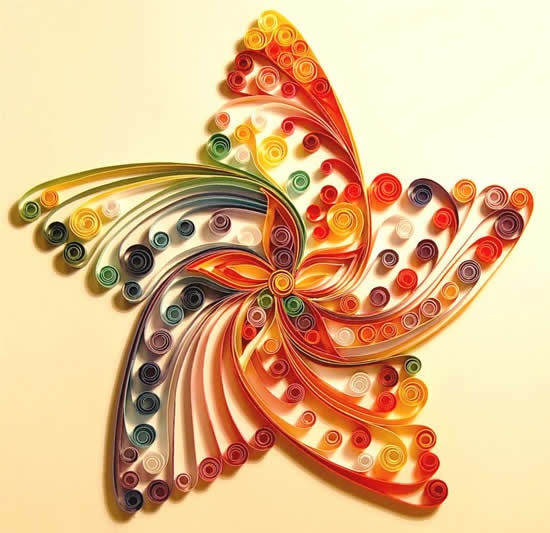 paper quilled star