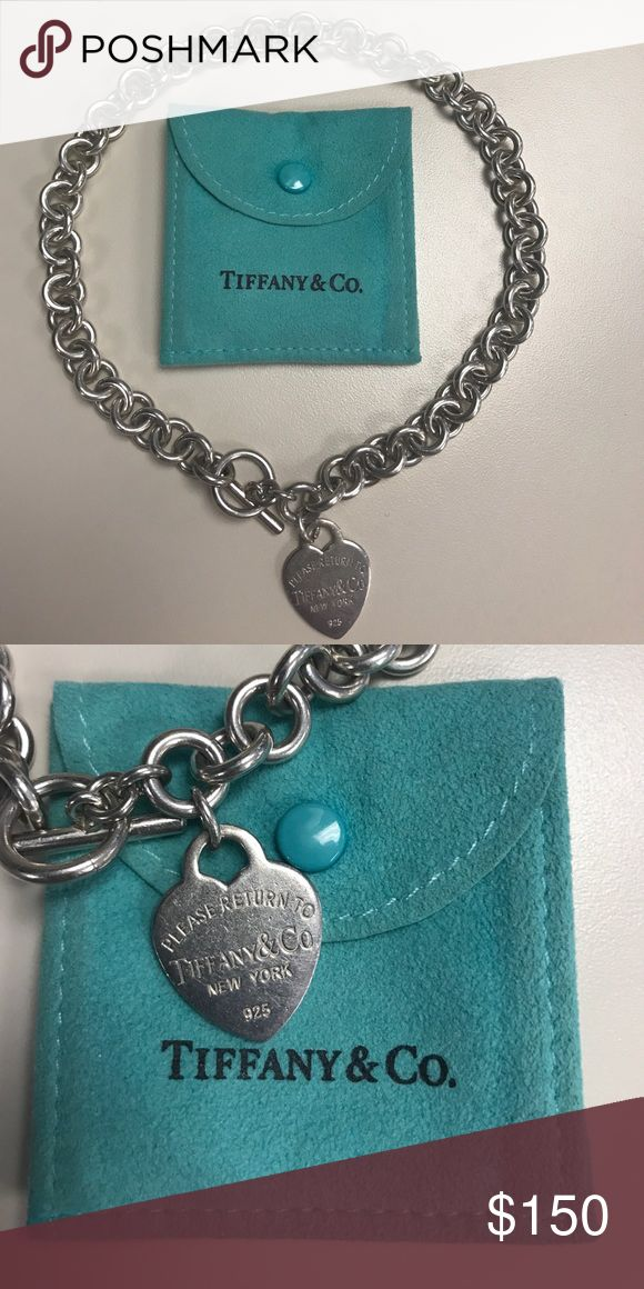 """Return to TIFFANY """"Heart Tag Choker"""" 925 ©™ Pre-owned, vintage (11 yrs old) Return to TIFFANY """"Heart Tag Choker"""" 925 up for sale.  Looking for it's new owner.  At the moment, this item is unvailable online.  Come in it's original Tiffany blue pounch and small paper bag.  Good find, good buy.  ©™ Tiffany & Co. Accessories"""