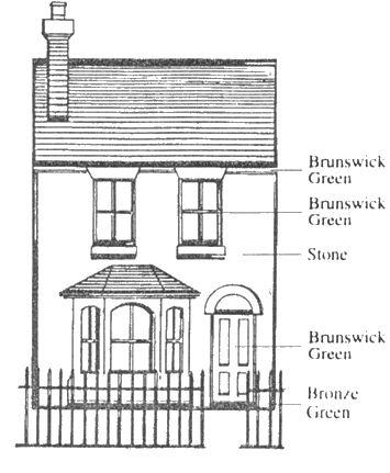 82 best images about it 39 s dollhouse exteriors on pinterest for Terrace color combination