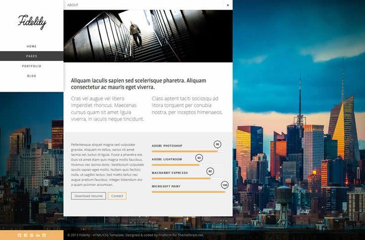 Fidelity HTML5 Template