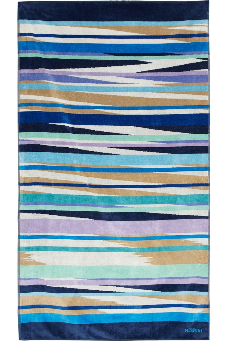 best towel ideas images on pinterest  anthropology bath  - missoni home  lola ikatprint cottonflannel towel