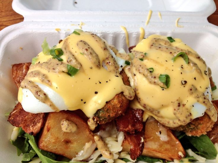 Panko crusted avocado Benny ! Yum