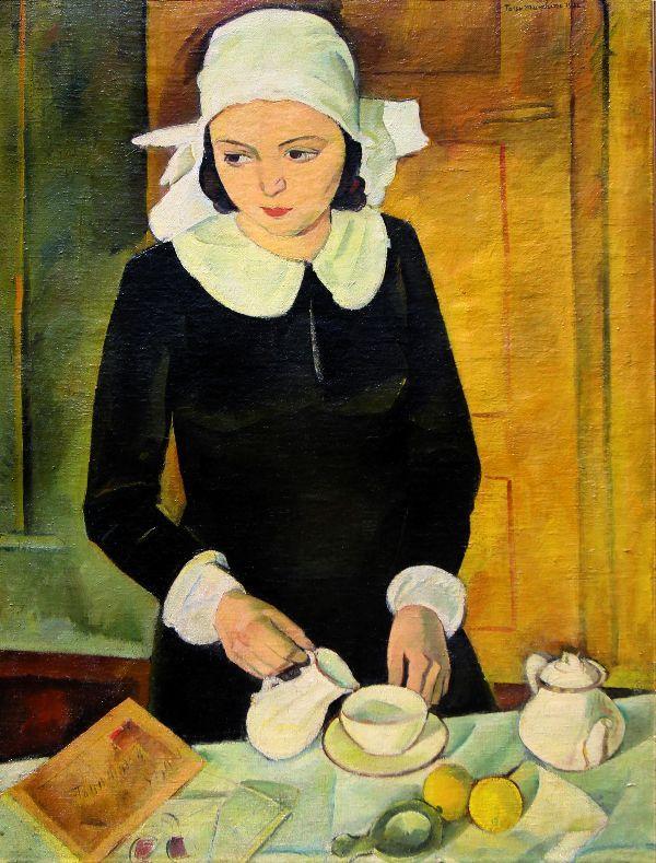 Tasso Marchini (Serbian/Italian, worked in Romania; 1907-1936) - Breakfast