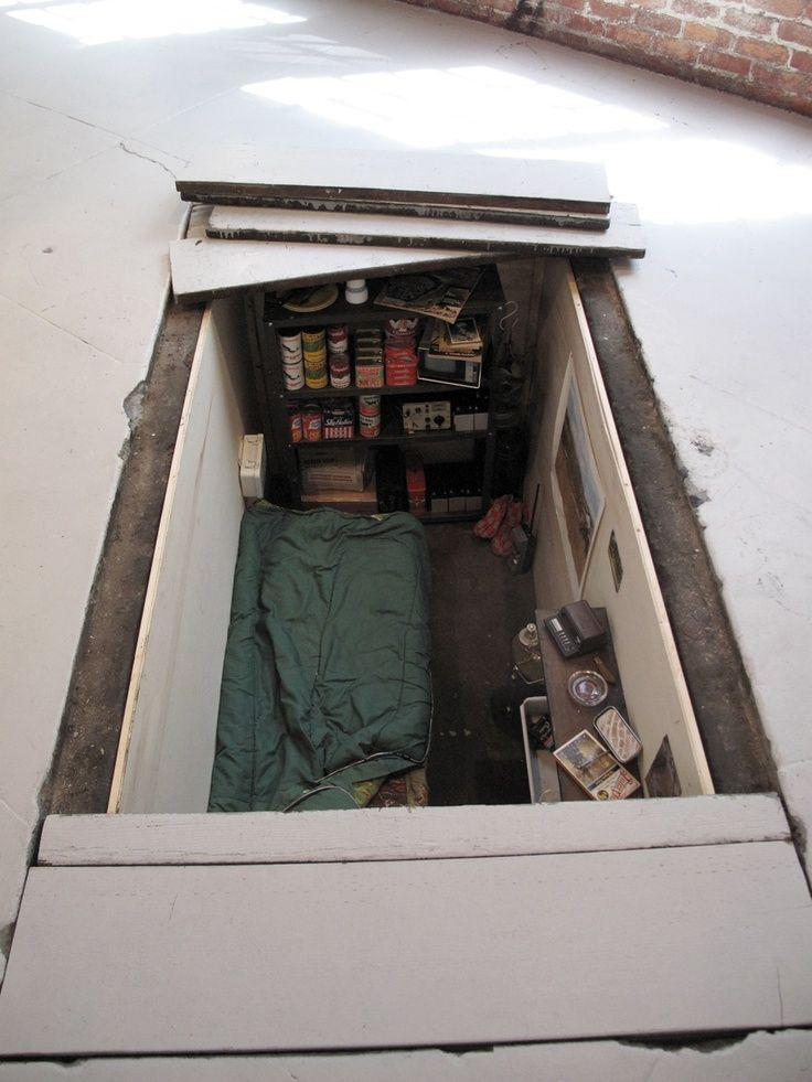 627 best images about survival shelter on pinterest safe for Hidden storm shelter