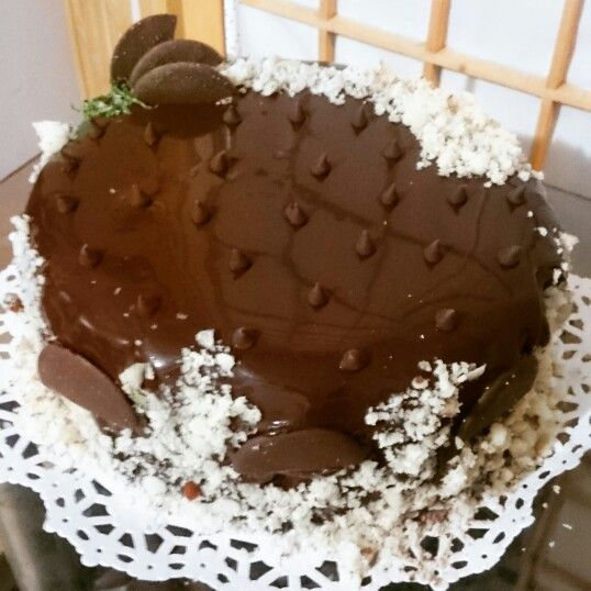 Pastel de chocolate tipo sacher
